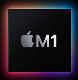 Apple silicom M1 chip, ARM64 RISC CPU
