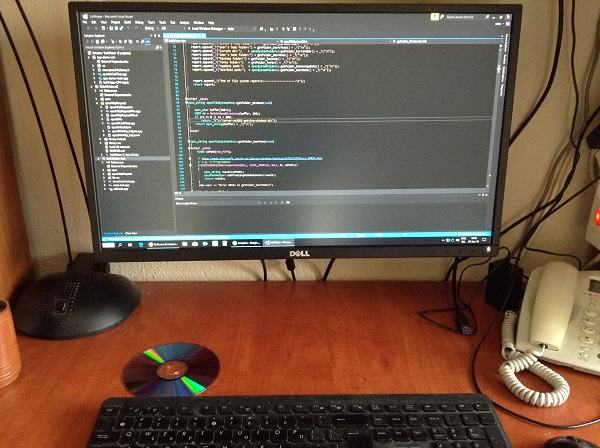 desktop software development workspace, visual studio