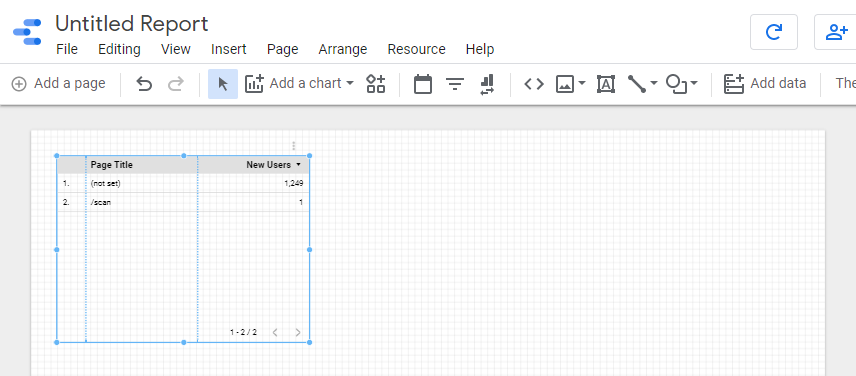 Google Data Studio - how to add new public report