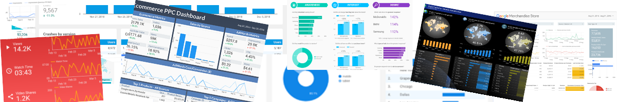 Google Data Studio - Report gallery