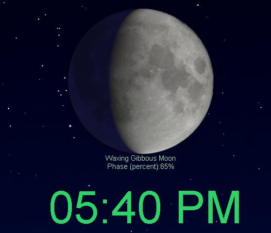 Digital clock screensaver screenshot
