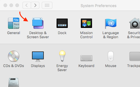 Apple Apple Mac preferences desktop and screen saver