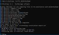Image of the CrcCheckCopy utility for comparing folders by file checksum