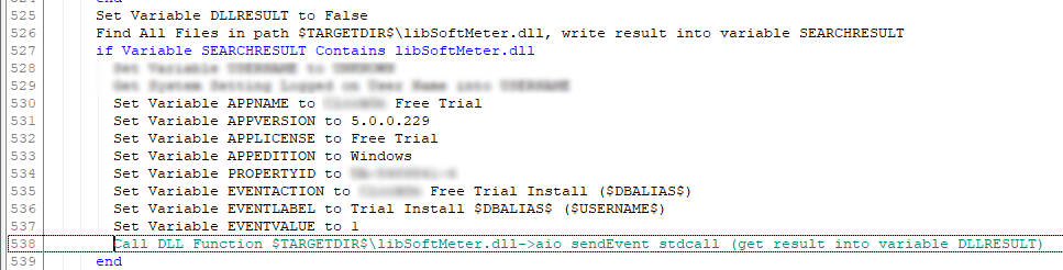 call dll from installaware installation analytics
